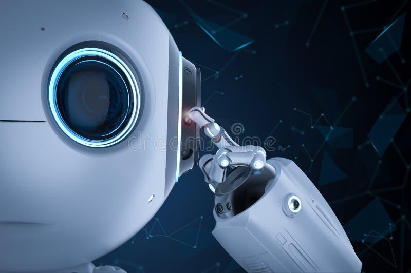 Miniroboter denken lizenzfreie abbildung