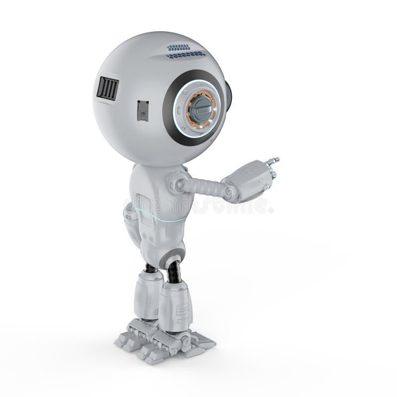 Miniroboterfingerpunkt lizenzfreie abbildung