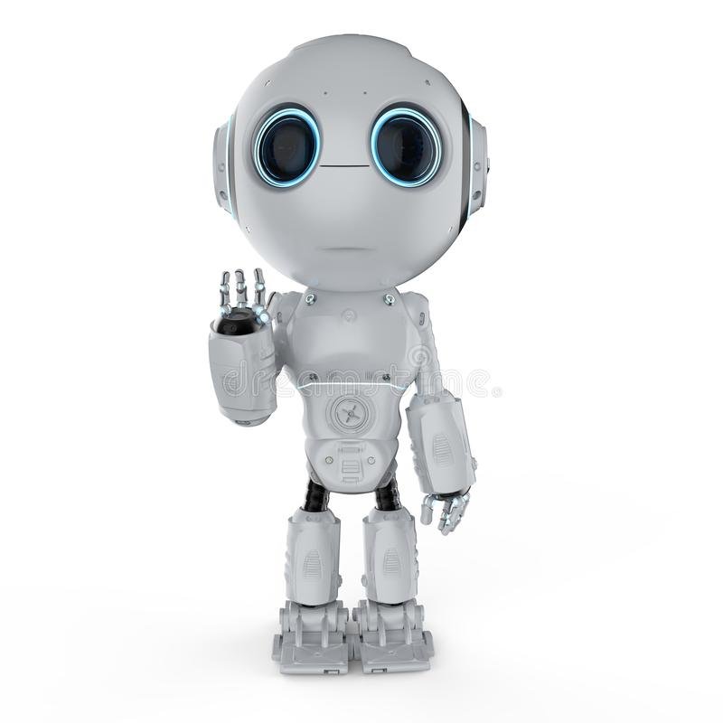 Minirobothand omhoog vector illustratie
