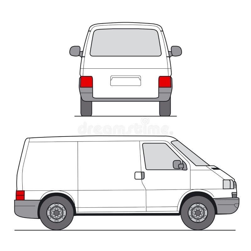 miniskåpbil vektor royaltyfri illustrationer