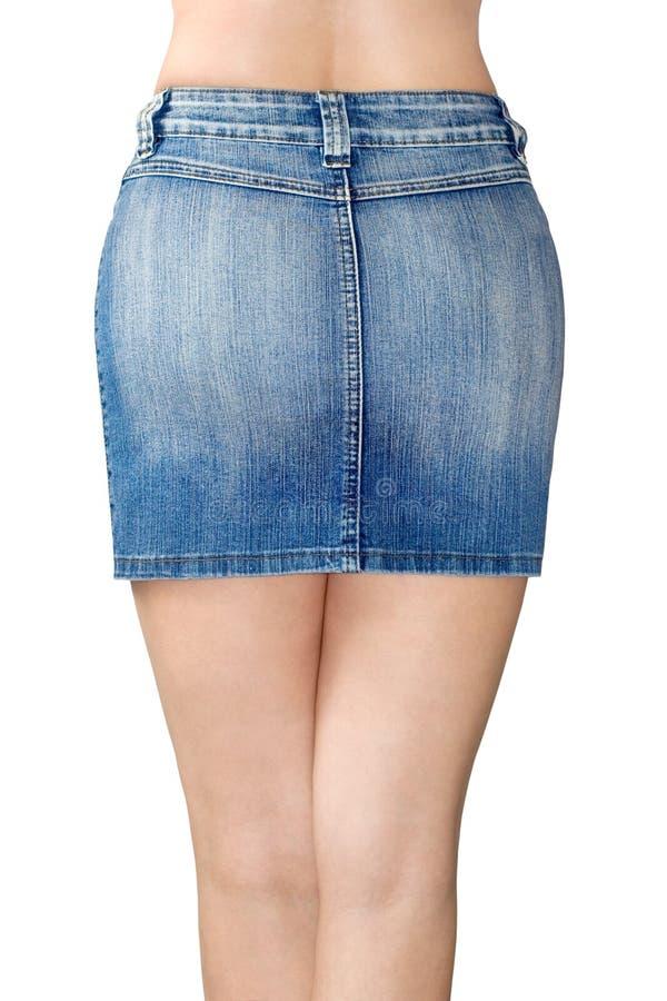 Miniskirt del tralicco blu fotografia stock libera da diritti