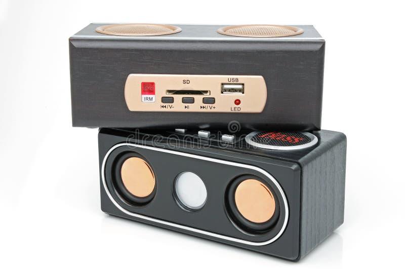 Minispeaker et joueur MP3 image stock