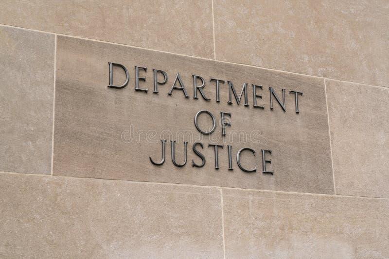 Ministère de la justice Sign photos stock