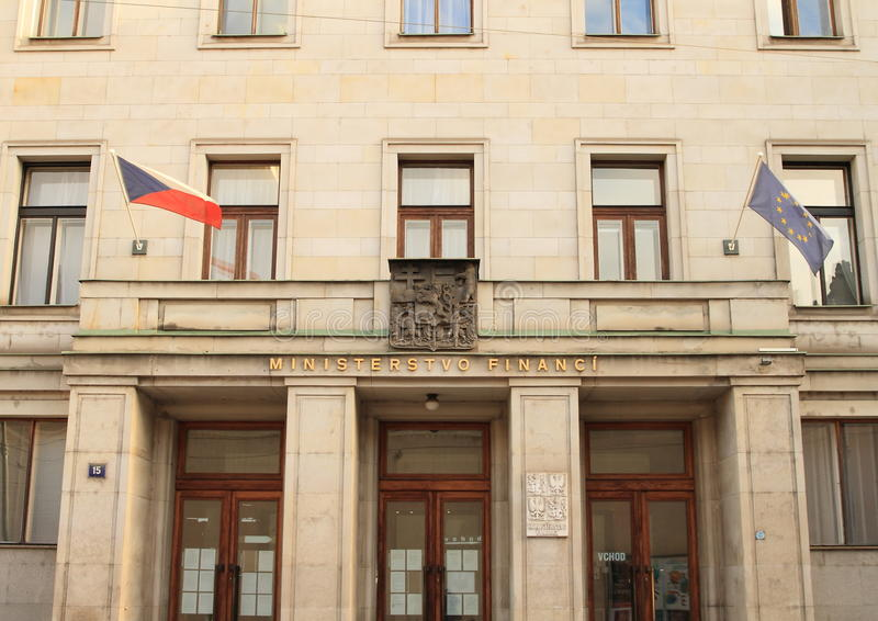 Ministère des finances de République Tchèque photographie stock libre de droits