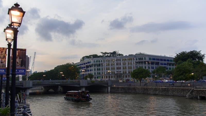 Ministério de Singapura de comunicações e da informação, rio e fotografia de stock royalty free