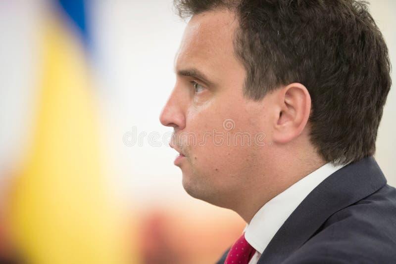 Minister av ekonomisk utveckling och handel av Ukraina Aivaras Ab royaltyfria bilder