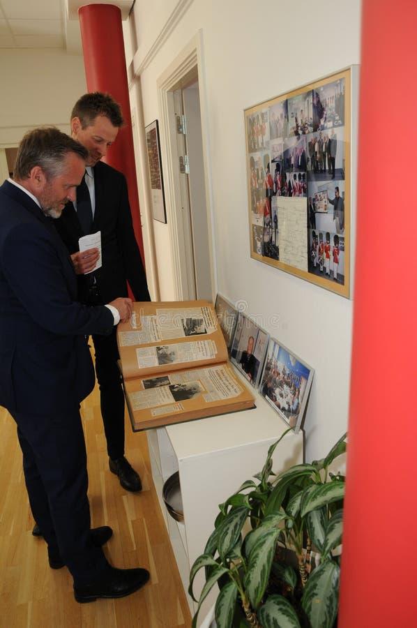Minister dla frieng sprawy wizyty ipc 40 rok celebratuos obrazy stock