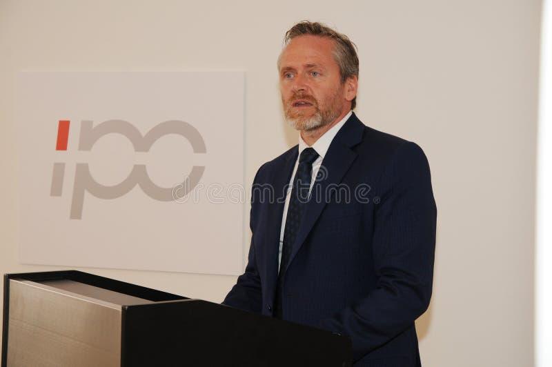 Minister dla frieng sprawy wizyty ipc 40 rok celebratuos obrazy royalty free