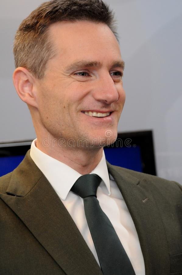 MINISTER RASMUS JARLOV FÜR HANDEL UND GESCHÄFT lizenzfreie stockfotografie