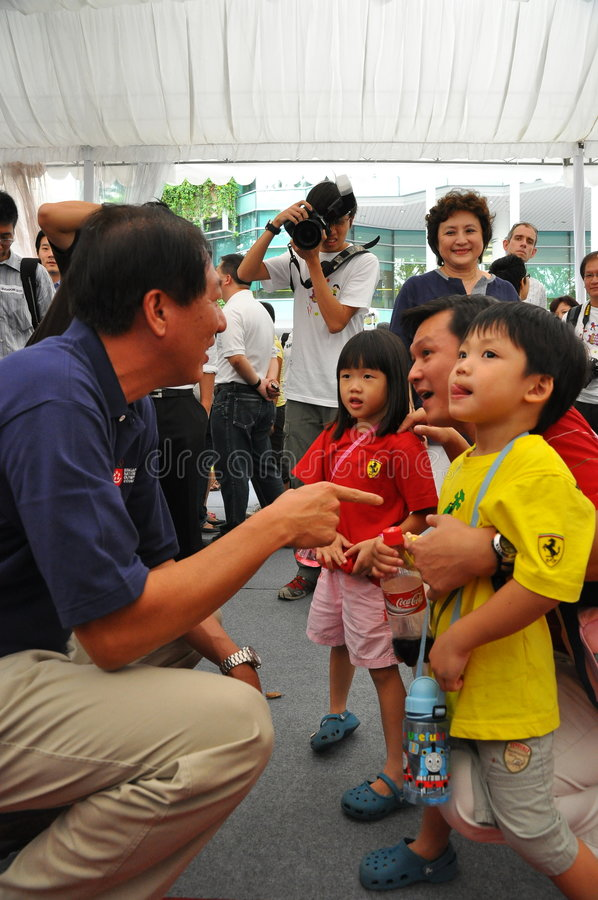 Download MINISTER TEO INTERACTING WITH KIDS Editorial Photography - Image: 7725702