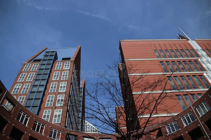 Ministerie gebouwen in het centrum van Den Haag The Hague als nieuwe bouw van de binnenstad stock fotografie