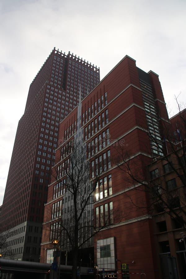Ministerie gebouwen in het centrum van Den Haag The Hague als nieuwe bouw van de binnenstad stock foto's