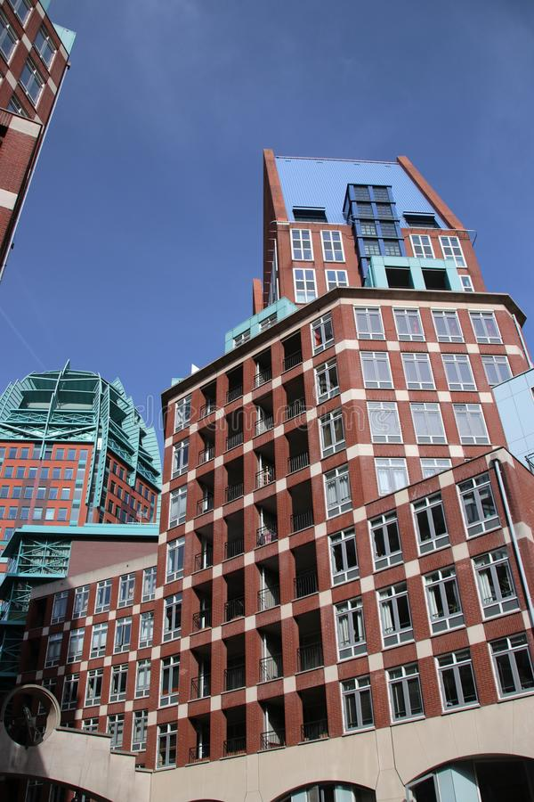 Ministerie gebouwen in het centrum van Den Haag The Hague als nieuwe bouw van de binnenstad stock afbeeldingen