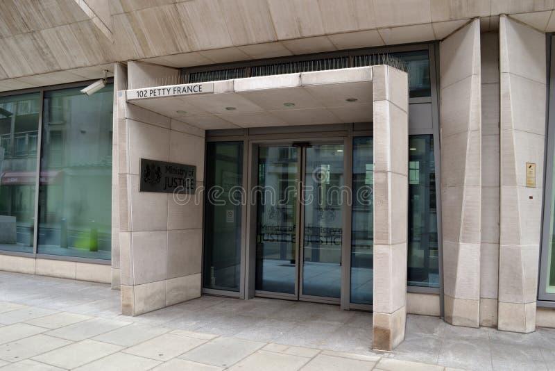 Ministerie Rechtvaardigheid United Kingdom London stock afbeeldingen