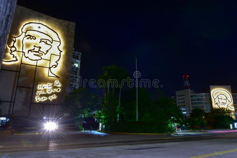 Ministerie van Binnenland en Informatica - Havana, Cuba stock fotografie