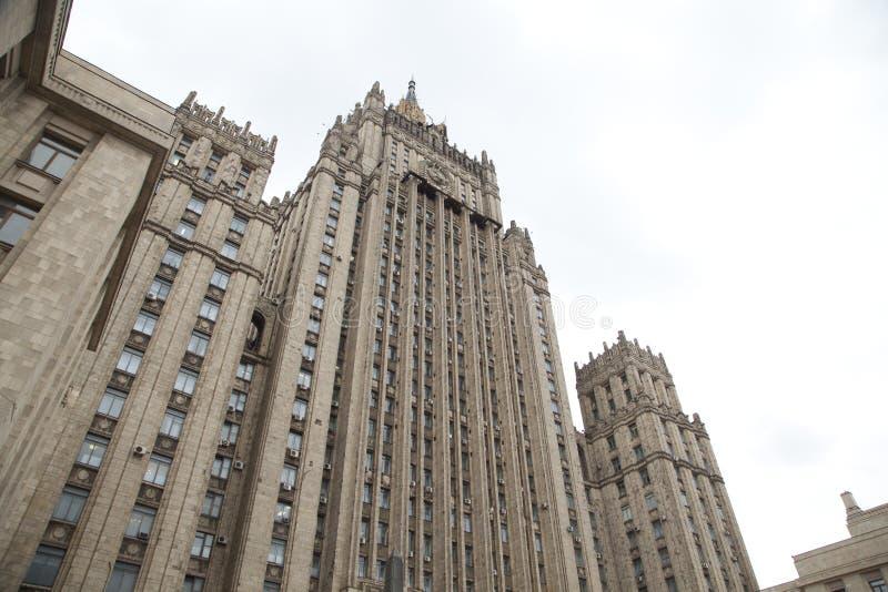 Ministerie van Buitenlandse zaken die, Moskou, Rusland bouwen stock foto's