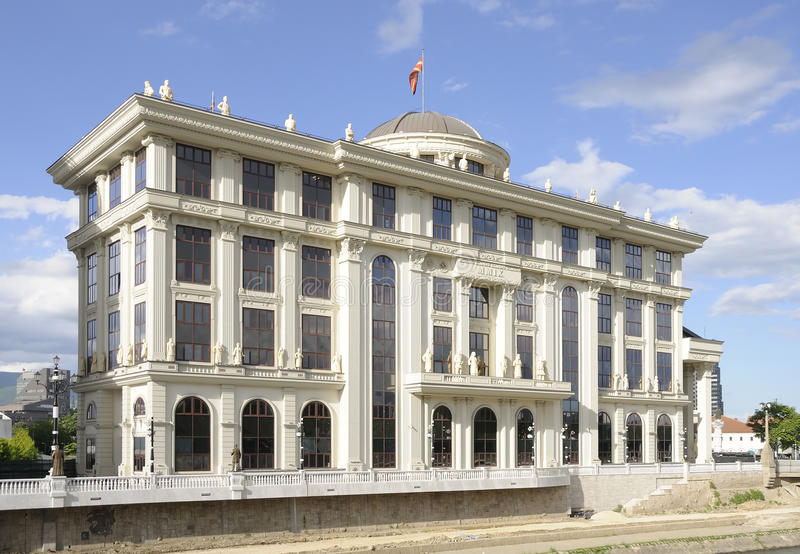 Ministerie van Buitenlandse zaken in Skopje stock fotografie