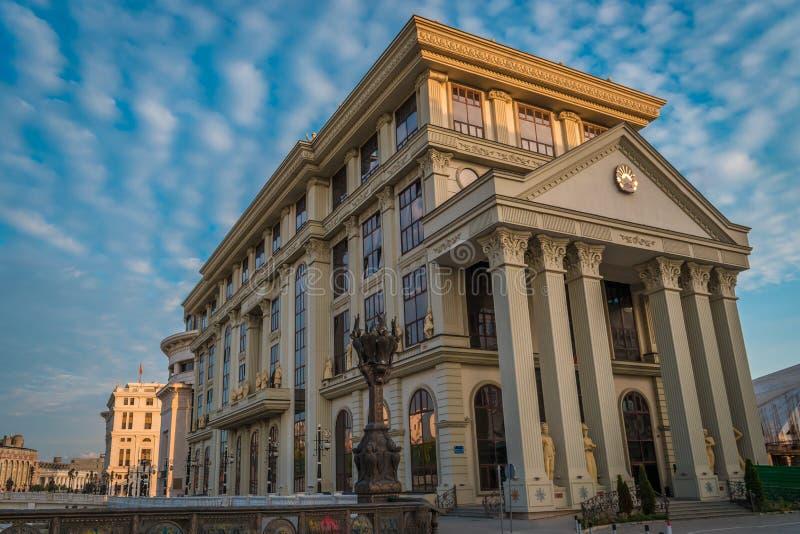 Ministerie van Buitenlandse zaken, Skopje, Republiek Macedonië stock afbeelding
