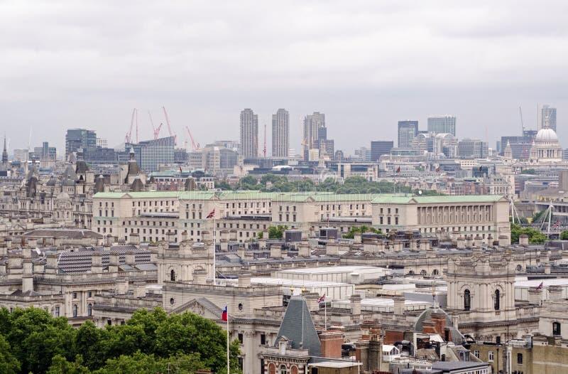 Ministerie van Defensie luchtmening, Londen stock foto's