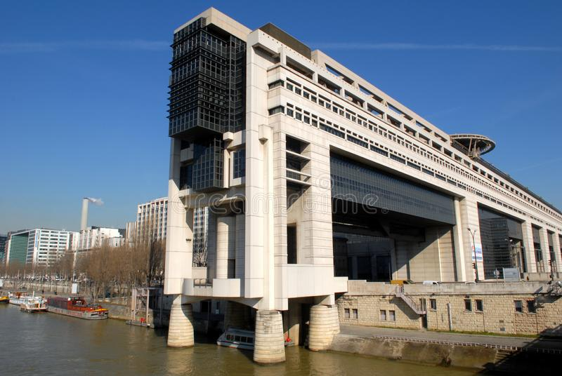 Ministerie van Economie in Bercy, Parijs, Frankrijk stock fotografie