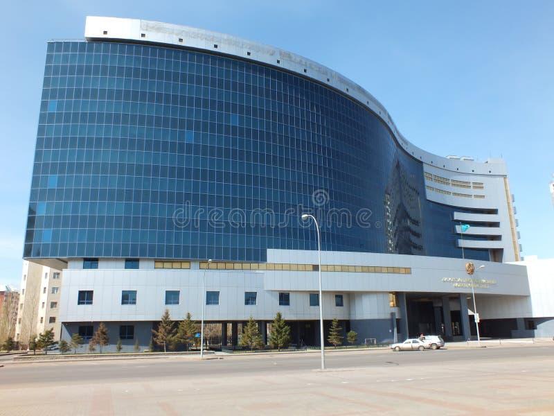 Ministerie van Financiën in Astana stock afbeeldingen