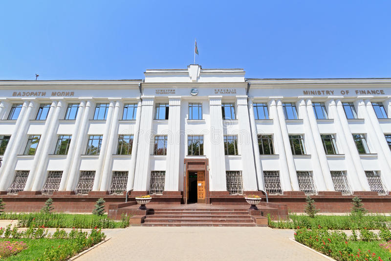 Ministerie van Financiën van de Republiek Tadzjikistan Dushanbe, Taj royalty-vrije stock foto's