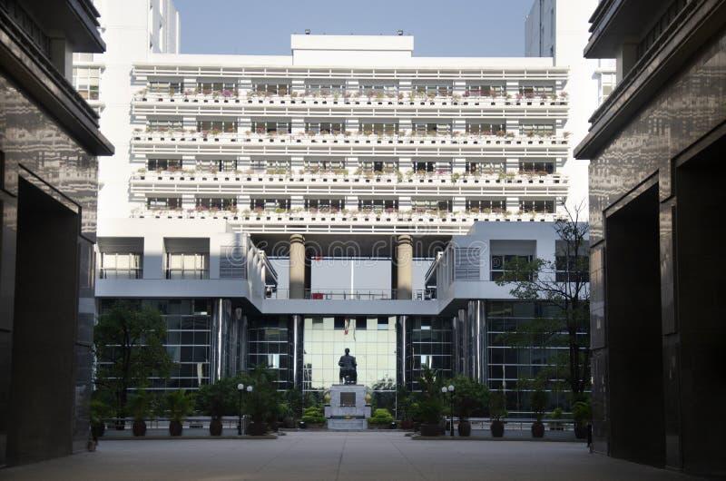Ministerie van Handel van het Koninkrijk van de bouw van Thailand bij Sanam-de stad van Baknam in Nonthaburi, Thailand royalty-vrije stock afbeelding