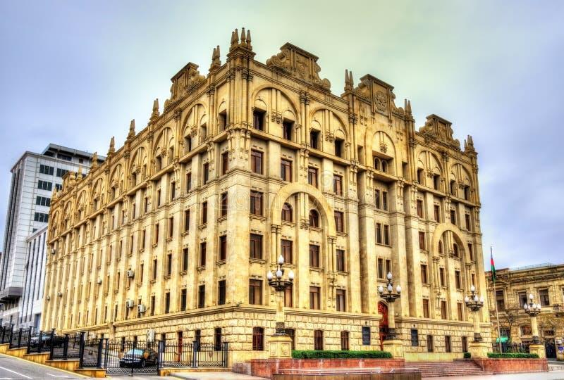 Ministerie van interne zaken die Baku inbouwen royalty-vrije stock foto's