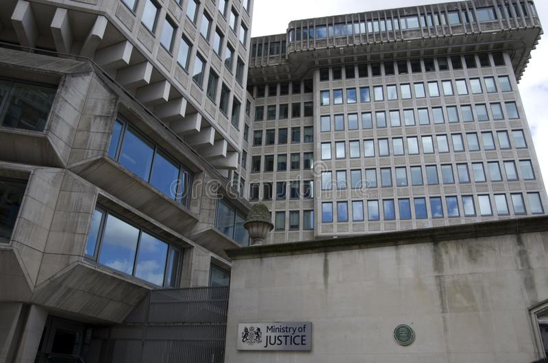 Ministerie van justitie van Londen stock foto