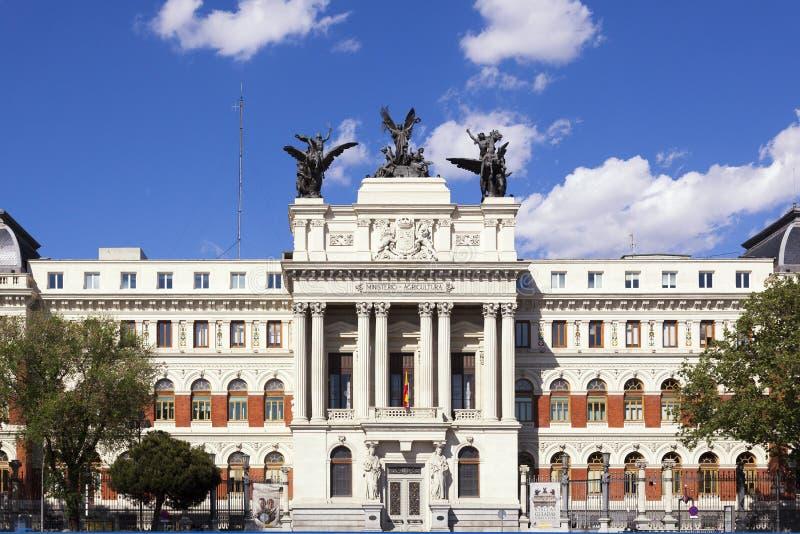 Ministerie van Landbouw in Madrid stock foto