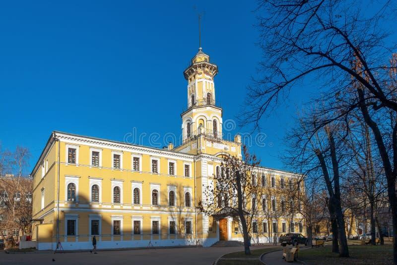 Ministero centrale del museo degli affari interni del Feder russo immagini stock libere da diritti