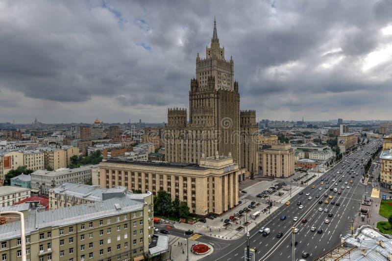 Ministero degli affari esteri che buiding - Mosca, Russia fotografia stock libera da diritti