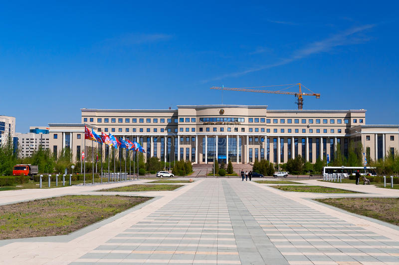 Ministero degli affari esteri Repubblica del Kazakistan immagine stock