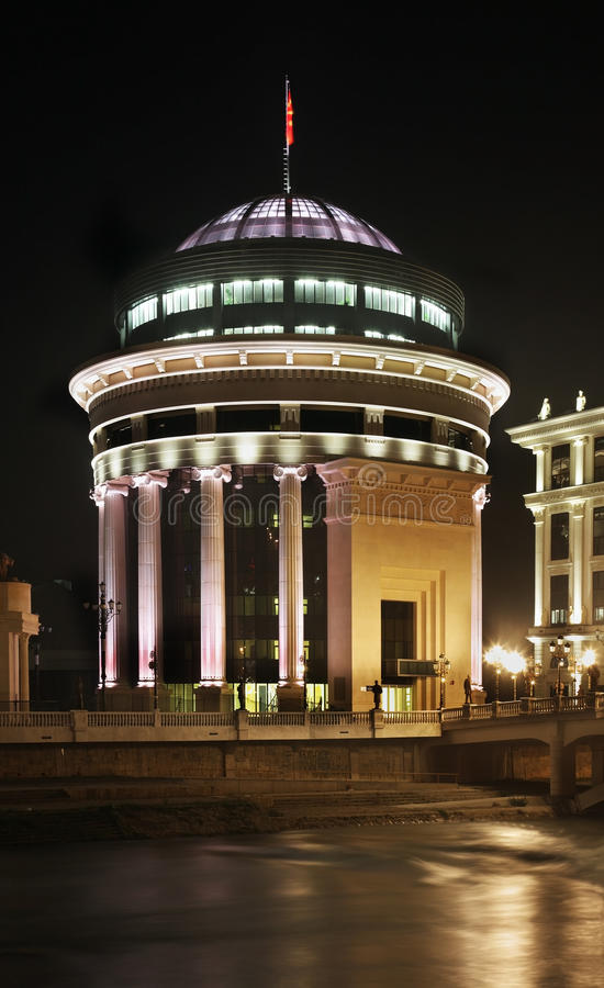 Ministero degli affari esteri a Skopje macedonia immagini stock