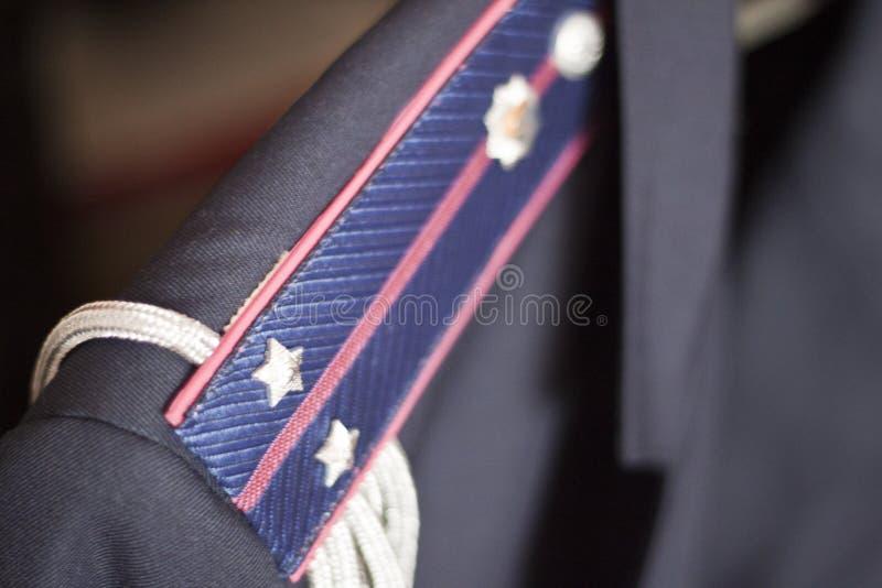 Ministero degli interni delle insegne di tenente dell'Ucraina immagine stock