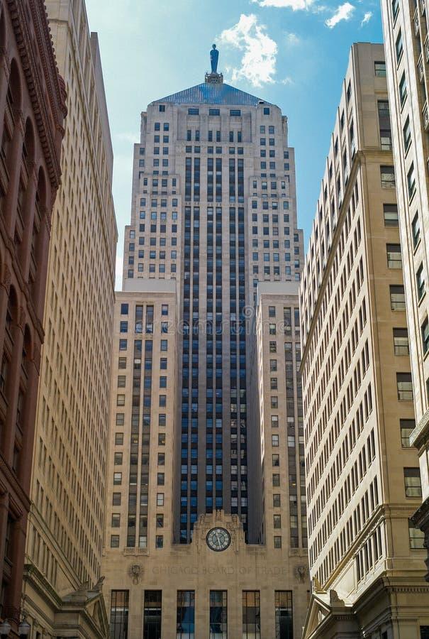 Ministero del commercio di Chicago il grattacielo di costruzione immagini stock