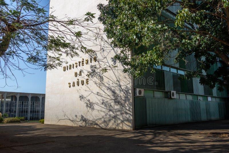 Ministero della sanità la costruzione - Brasilia, Distrito federale, Brasile immagine stock libera da diritti