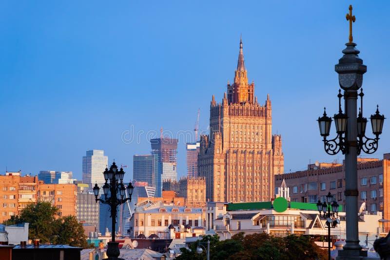 Ministero per gli affari esteri della costruzione principale della Russia a Mosca fotografia stock libera da diritti