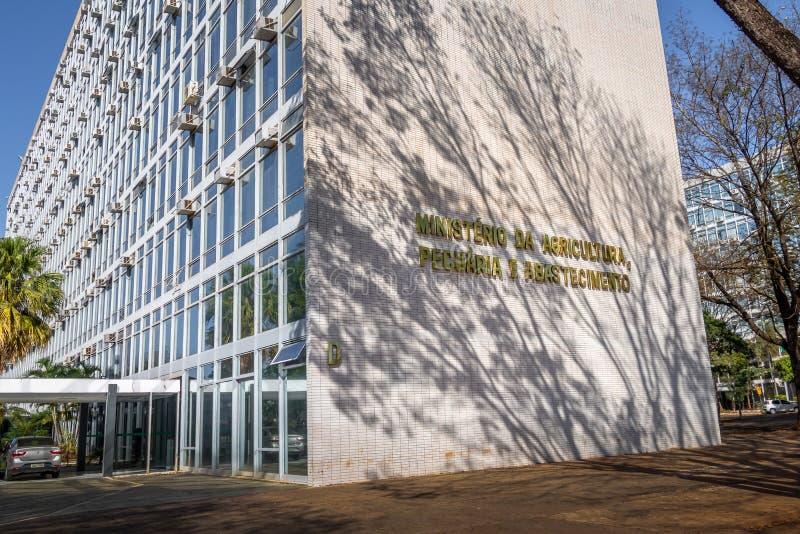Ministerstwa Rolnictwa, bydlęcia i dostawy budynek, - Brasilia, Distrito Federacyjny, Brazylia fotografia stock