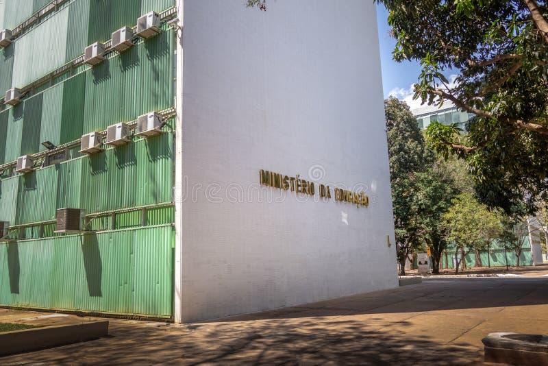 Ministerstwo Edukacji - Brasilia, Distrito Federacyjny, Brazylia obrazy stock