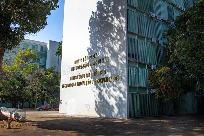 Ministerstwo Krajowa integracja i ministerstwo nauka budynek - Brasilia, Distrito Federacyjny, Brazylia zdjęcia royalty free