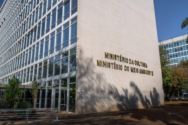 Ministerstwo kultura i ministerstwo środowisko - Brasilia, Distrito Federacyjny, Brazylia zdjęcia stock