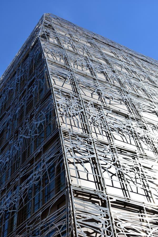 Ministerstwo kultura i komunikacja, fasadowy zbli?enie Pary?, Francja, 12 2018 Aug obrazy stock
