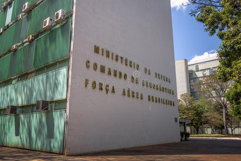 Ministerstwo obrona budynek i brazylijczyk siły powietrzne - Brasilia, Distrito Federacyjny, Brazylia zdjęcia royalty free