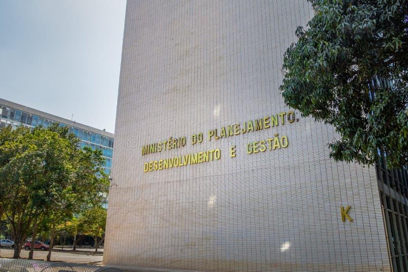 Ministerstwo planowania, rozwoju i zarządzania budynek, - Brasilia, Distrito Federacyjny, Brazylia fotografia royalty free