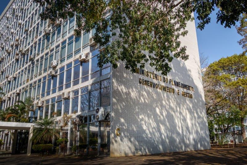 Ministerstwo planowania, rozwoju i zarządzania budynek, - Brasilia, Distrito Federacyjny, Brazylia zdjęcia stock