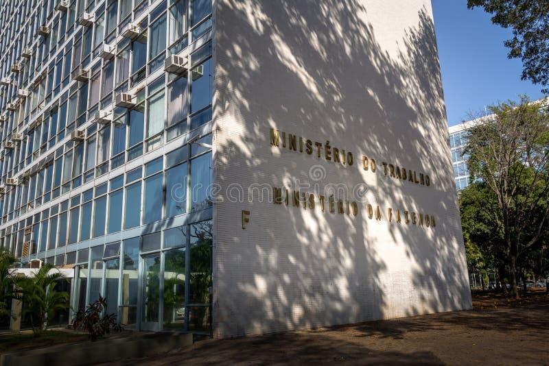 Ministerstwo praca budynek - Brasilia, Distrito Federacyjny, Brazylia obrazy stock