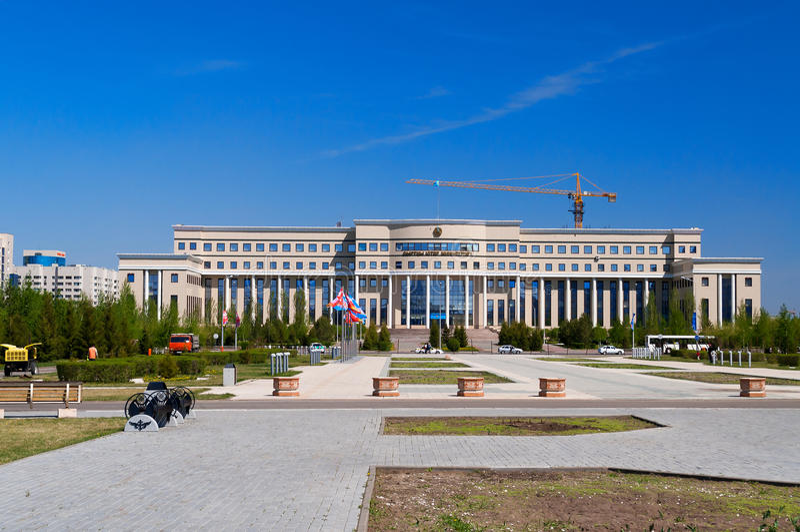 Ministerstwo Spraw Zagranicznych republika Kazachstan zdjęcia royalty free