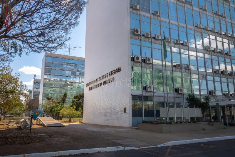 Ministerstwo, ministerstwo turystyka budynek i - Brasilia, Distrito Federacyjny, Brazylia obraz stock