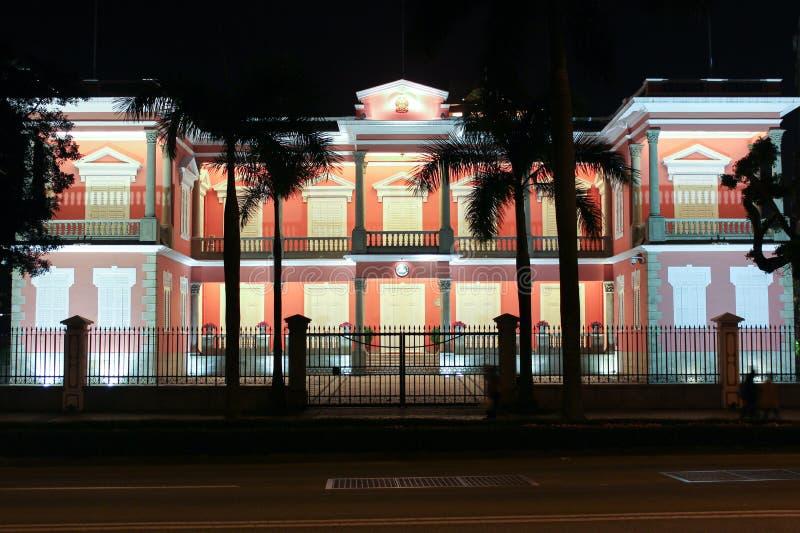 Ministerstwo w Macao przy nocą fotografia royalty free